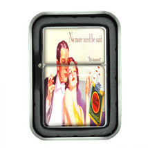 Lucky Strike Oil Lighter With Case Vintage Cigarette Smoking Ad Classic Logo D11 - $12.95