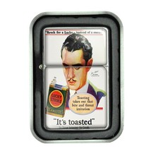 Lucky Strike Oil Lighter With Case Vintage Cigarette Smoking Ad Classic Logo D17 - $12.95