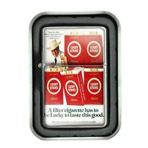 Lucky Strike Oil Lighter With Case Vintage Cigarette Smoking Ad Classic Logo D20 - $12.95