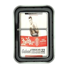 Lucky Strike Oil Lighter With Case Vintage Cigarette Smoking Ad Classic Logo D26 - $12.95