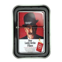 Lucky Strike Oil Lighter With Case Vintage Cigarette Smoking Ad Classic Logo D30 - $12.95