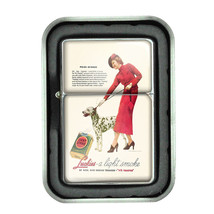 Lucky Strike Oil Lighter With Case Vintage Cigarette Smoking Ad Classic Logo D7 - $12.95