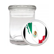 Mexico Flag D9 Odorless Air Tight Medical Glass Jar Container Mexican Pride - $9.85