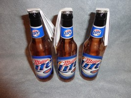 "MILLER LITE BEER BOTTLE LIGHTER AND BOTTLE OPENER SET OF 3  4"" HIGH - $7.91"