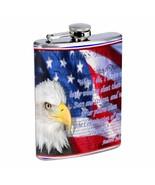 Memorial Day Flask D3 8oz Stainless Steel Flag, America, Veterans, Heroe's - $7.88