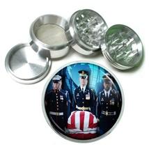 Memorial Day Aluminum Grinder D2 63mm 4 Piece American Heros Veterans USA Flag - $9.85