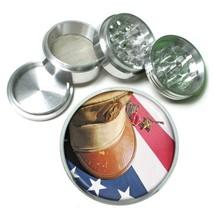 Memorial Day Aluminum Grinder D4 63mm 4 Piece American Heros Veterans USA Flag - $9.85