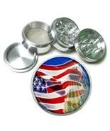 Memorial Day Aluminum Grinder D1 63mm 4 Piece American Heros Veterans US... - $9.85