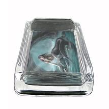 "Mermaid Glass Ashtray D4 4""x3"" Mythological Creature Women of the Sea - $9.85"