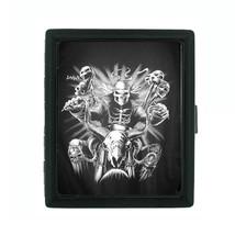 Metal Cigarette Case Holder Box Skull D 7 Ghost Skull Riding a Motorcycle - $4.71