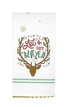 Let's Get Blitzen Tea Towel