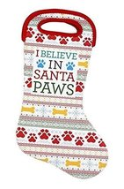 I Believe in Santa Paws Dog Stocking and Holiday Bag [Kitchen]