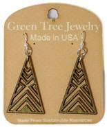 Green Tree Jewelry Triangle Earrings Apple Green Wood Wooden Laser Cut #... - $9.99