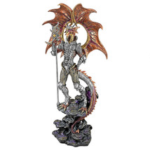 Dragon in Knight's Armor Staff of Terror Mythic... - $130.63