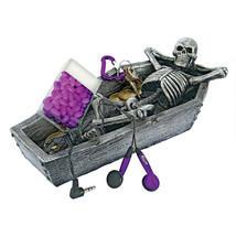 Eternal Rest Reclining Human Skeleton in Open Coffin Spooky Halloween Decor - ₨2,246.15 INR