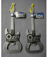 OZZY OSBOURNE METAL GUITAR BOTTLE OPENER SET OF 2 ROCK AND ROLL - $5.89