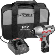 Cordless Impact Driver Craftsman Tool Kit Compact Drill Wood Auto Home Q... - $82.46