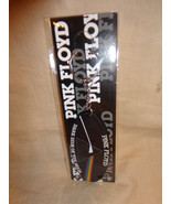 "PINK FLOYD DARK SIDE OF THE MOON LOGO RUBBER KEYCHAIN NEW 3 1/4"" BY 1 3/4"" - $4.90"
