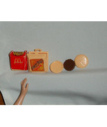 Barbie doll food McDonald's Big Mac container burger meat buns french fr... - $8.98
