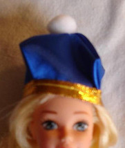 Barbie doll accessory hat Fashion Ave blue with gold trim  - $7.99
