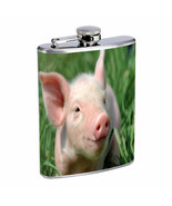 Pig Flask D3 8oz Stainless Steel Sow Piglet Barnyard Animal Cute Lovable - $7.88