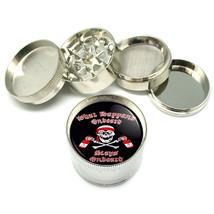 "Pirate Skull Crossbones Liquor Metal Grinder 4 PC 2"" D-080 - $10.88"