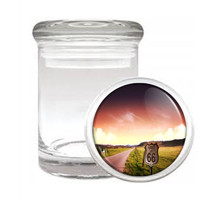 Route 66 D1 Odorless Air Tight Medical Glass Jar Container Historic Road Usa - $12.95