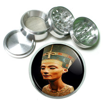 Queen Nefertiti Egyptian Metal Silver Aluminum Grinder D115 63mm Herb Spices - $12.82