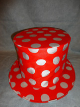 RED AND WHITE POLKA DOT TOP HAT HALLOWEEN ACCESSORY - $6.88