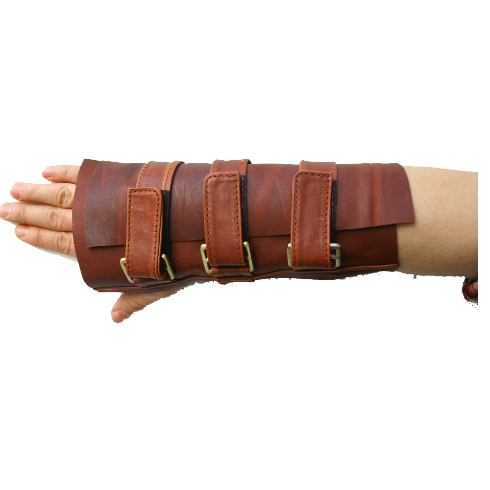 XCOSER Bane Wrist Brace Guard Cosplay Costume Props Leather Hand Gauntlet Gloves