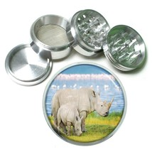 Rhino Aluminum Grinder D3 63mm 4 Piece Mother Baby Africa Two Horn Savannah - $7.88