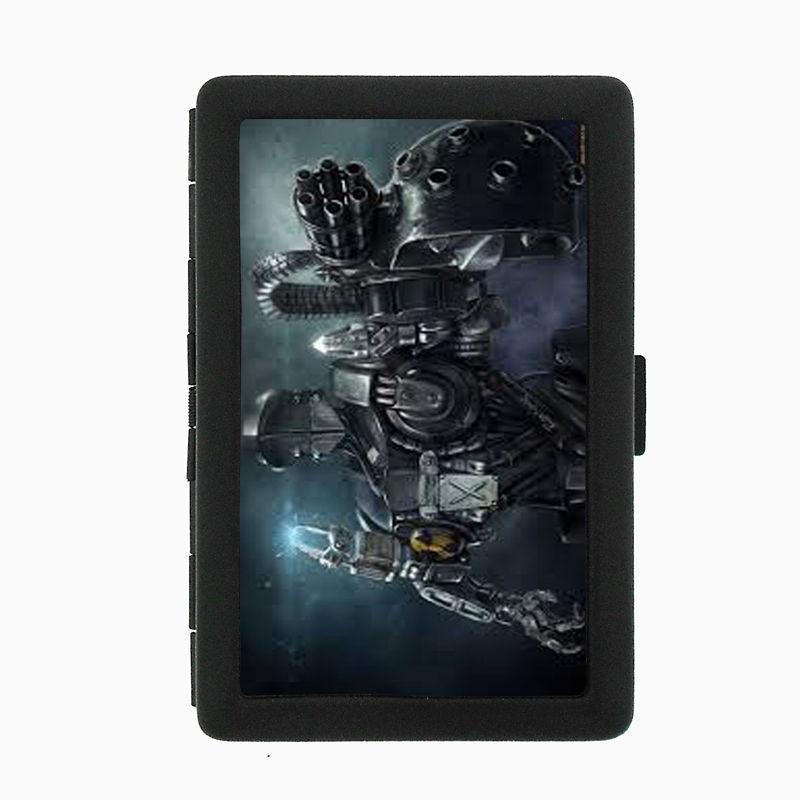 Robot D2 Black Cigarette Case / Metal Wallet Cyborg Artificial Life