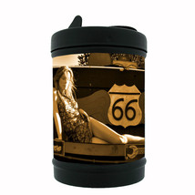 Route 66 Black Metal Car Ashtray D10 US Highway Travel Historic - $5.89