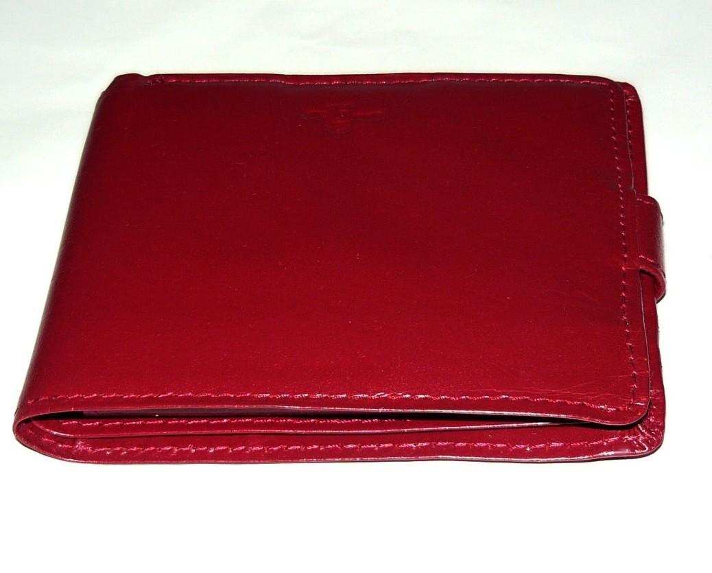 Ladies Brick Red Handmade Leather Wallet