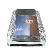 "Route 66 Glass Ashtray D3 4""x3"" US Highway Travel Historic - $14.95"