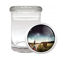 Sexy Motorcycle D3 Odorless Air Tight Medical Glass Jar Container Hot Model - $7.88