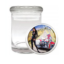 Sexy Motorcycle D10 Odorless Air Tight Medical Glass Jar Container Hot Model - $7.88