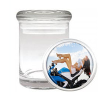 Sexy Motorcycle D2 Odorless Air Tight Medical Glass Jar Container Hot Model - $7.88