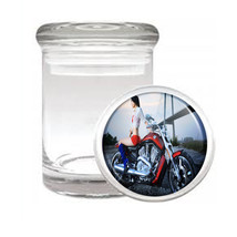 Sexy Motorcycle D5 Odorless Air Tight Medical Glass Jar Container Hot Model - $7.88