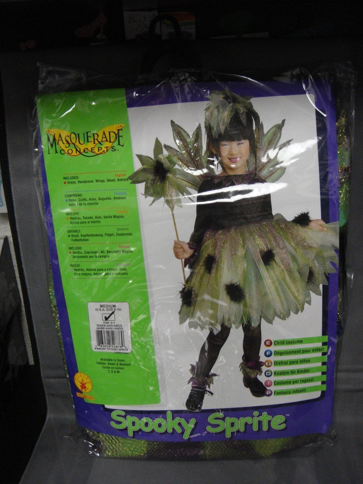 SPOOKY SPRITE COSTUME SIZE 8-10 CHILD COSTUME