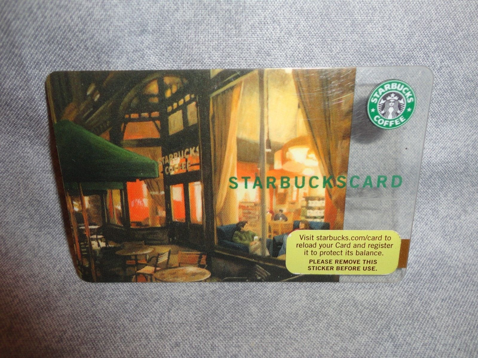 STARBUCKS CARD 2006 STORE FRONT THEME GIFT CARD NO BALANCE / RELOADABLE NEW