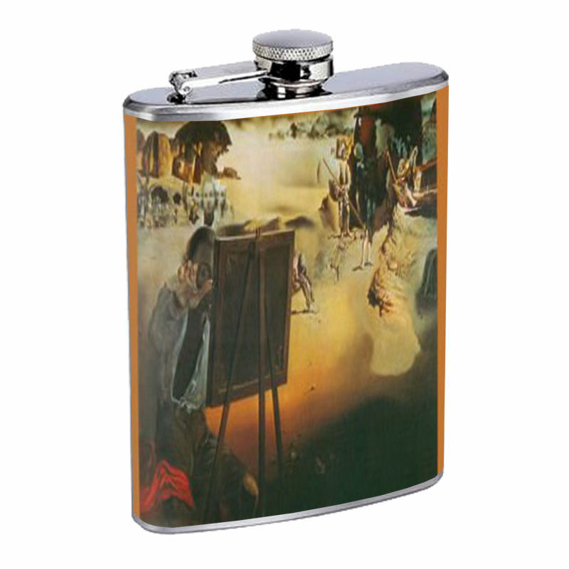 Salvador Dali Impressions Of Africa D307 Flask 8oz Stainless Steel