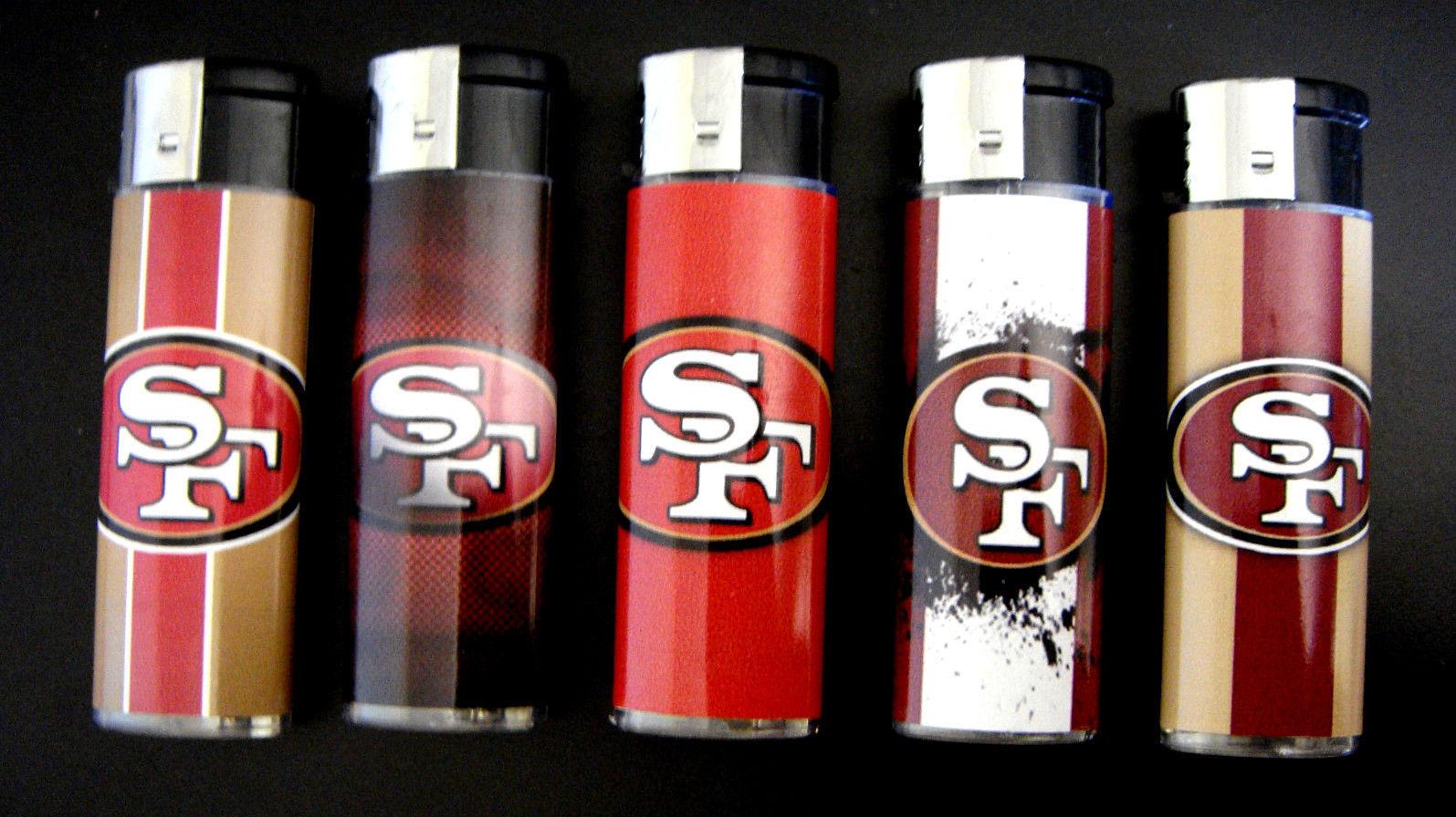 San Francisco 49ers Football LogoTheme Set of 5 Cigarette Lighters