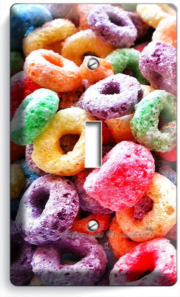 FROOT LOOPS RING CEREAL SINGLE LIGHT SWITCH WALL PLATE COVER KITCHEN DINING ROOM
