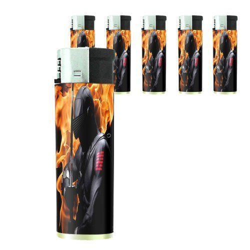 Set of 5 Cigarette Lighters Ninja D 08 Covert Agent Warrior Spy Assassin Shinobi