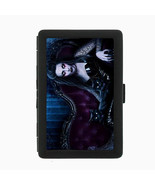Sexy Gothic Girl D1 Black Cigarette Case / Metal Wallet Goth Rock Black ... - $6.88