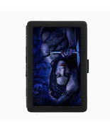Sexy Gothic Girl D2 Black Cigarette Case / Metal Wallet Goth Rock Black ... - $6.88
