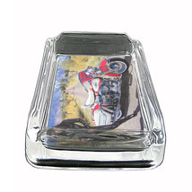 """Sexy Motorcycle Glass Ashtray D10 4""""x3"""" Speed Racing Bike - $9.85"""