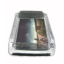 """Sexy Motorcycle Glass Ashtray D3 4""""x3"""" Speed Racing Bike - $9.85"""