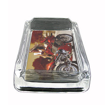 """Sexy Motorcycle Glass Ashtray D4 4""""x3"""" Speed Racing Bike - $9.85"""